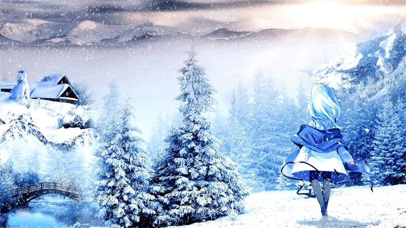 Hình nền anime mùa đông 8 (Kích thước: 1920 x 1080)
