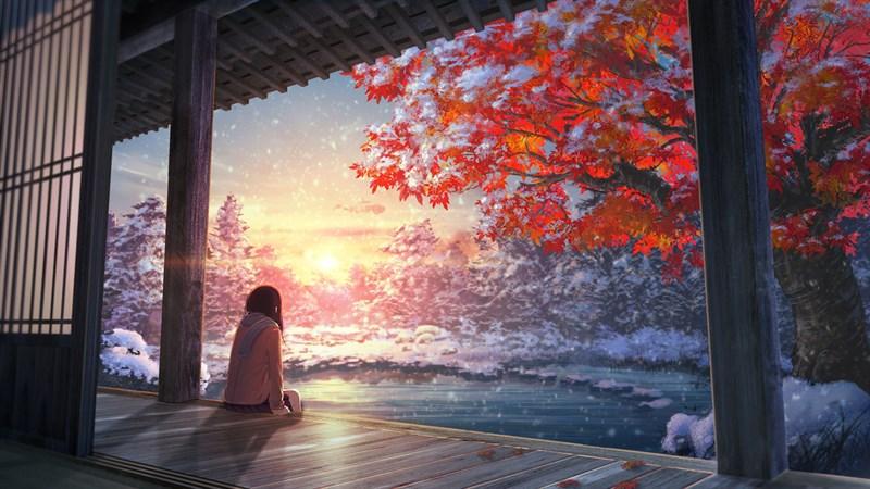 Hình nền anime mùa đông 9 (Kích thước: 1920 x 1080)