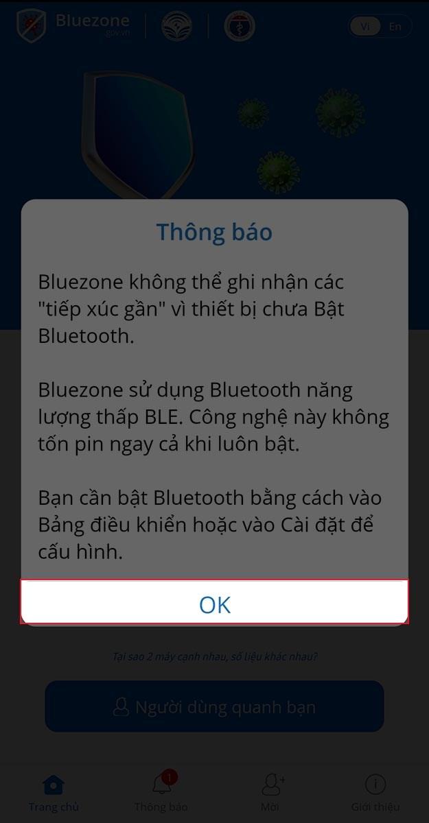 Cấp quyền Bluetooth