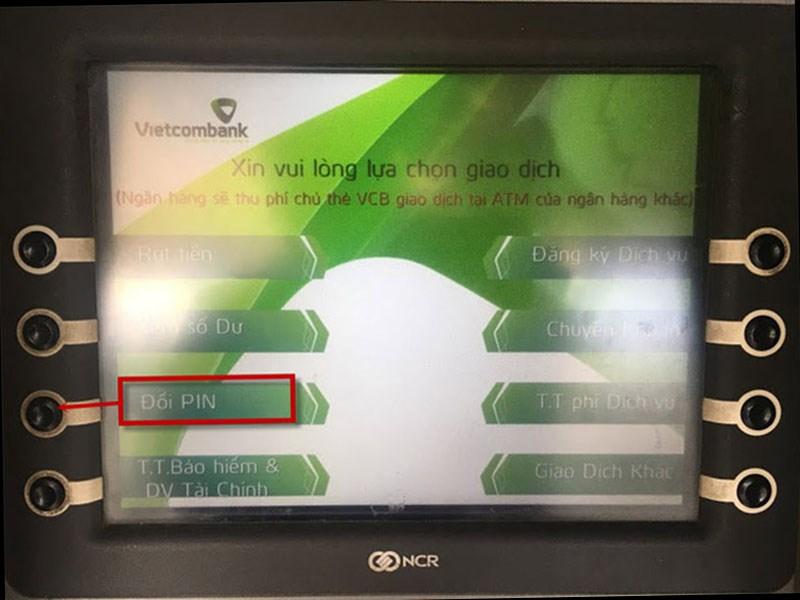 Ấn đổi mã PIN