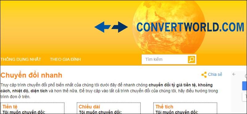 Truy cập vào Convert World