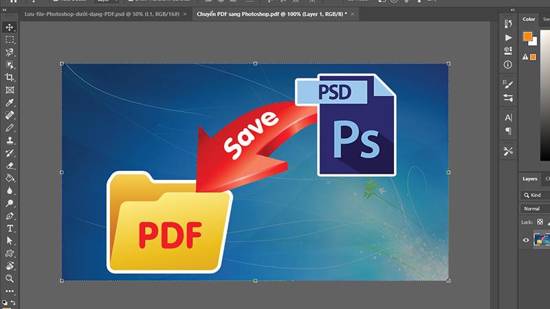 Xuất file PDF trong Photoshop