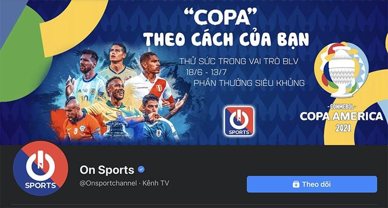 Cách xem Copa America trên Facebook
