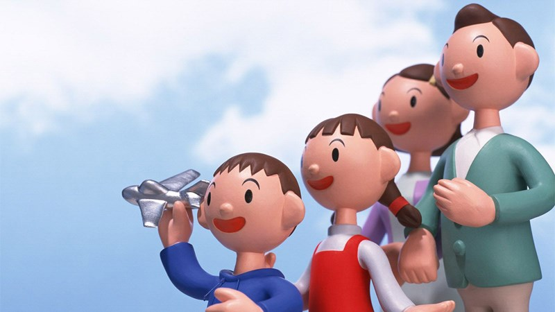 Hình ảnh chibi gia đình hạnh phúc 6 (Kích thước: 1920 x 1080)