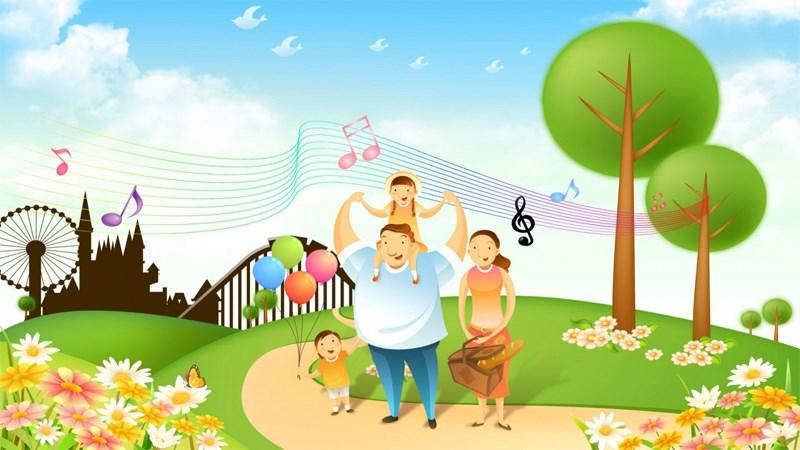 Hình ảnh chibi gia đình hạnh phúc 7 (Kích thước: 1920 x 1080)