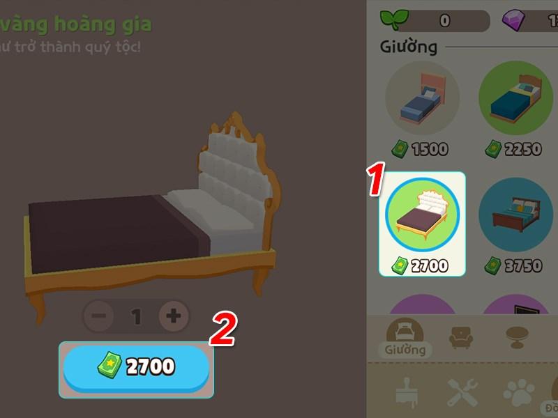 Chọn loại nội thất bạn muốn mua