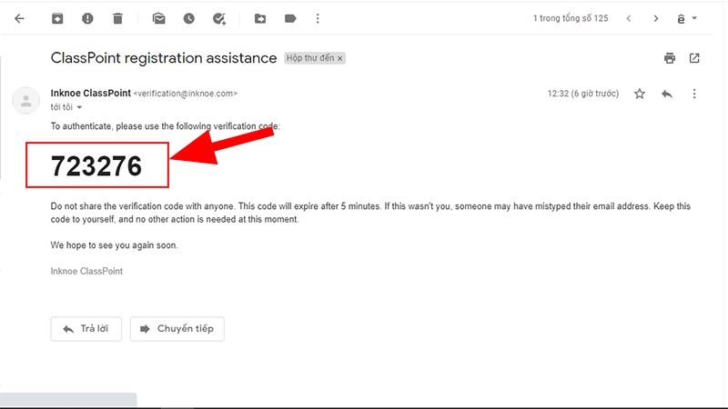Mã kích hoạt tài khoản sẽ được gửi về Mail