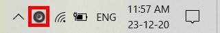 Biểu tượng Sound Booster trên Taskbar