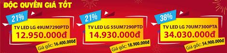 Banner Pre order Tivi LG