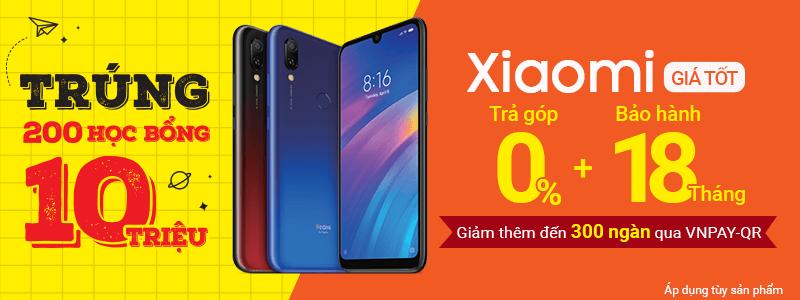 Xiaomi Trả Góp 0%[break]Giảm 300k Qua VNPAY-QR