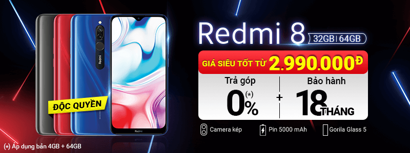 Xiaomi Redmi 8[break]Từ 2.990.000đ