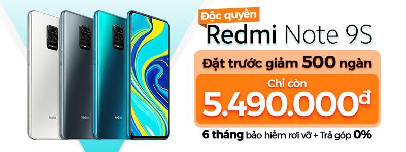 Đặt Trước Redmi Note 9S[break]Giảm Ngay 500 Ngàn