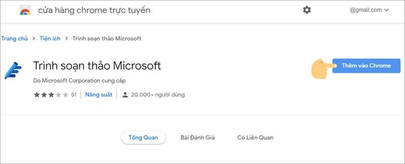Thêm tiện ích Microsoft Editor vào Chrome