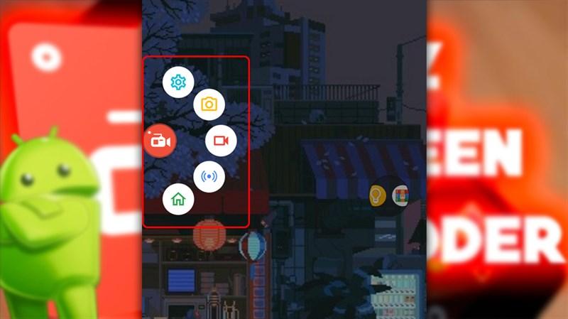 Biểu tượng phím tắt AZ Screen Recorder trên màn hình