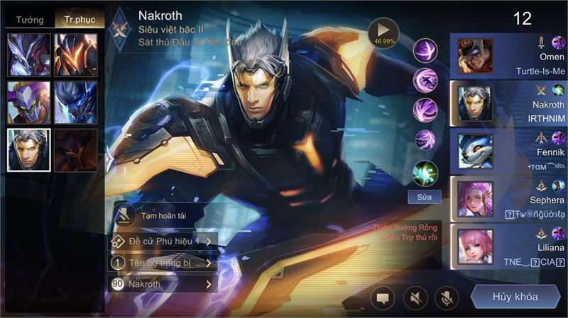 Lựa chọn Nakroth đi rừng