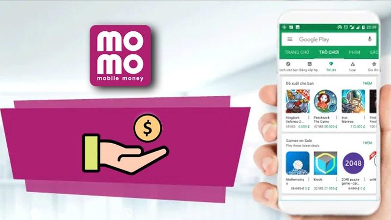 thanh toán trên CH Play qua ví MoMo