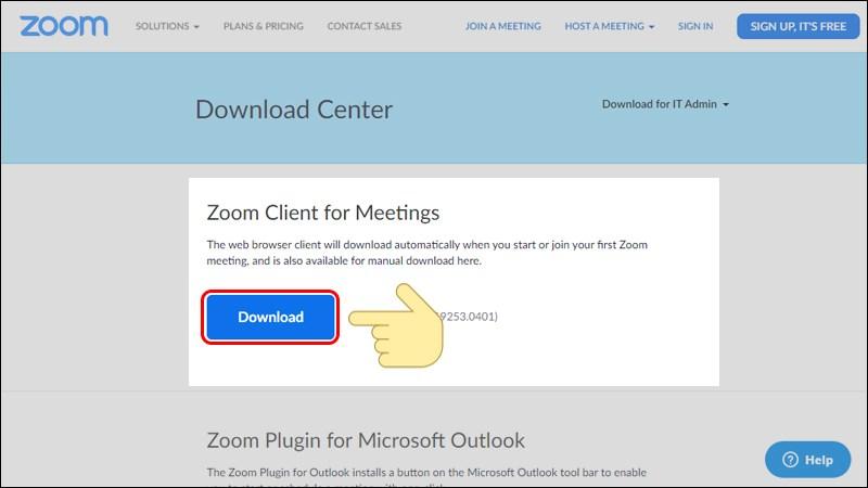 Download ứng dụng Zoom