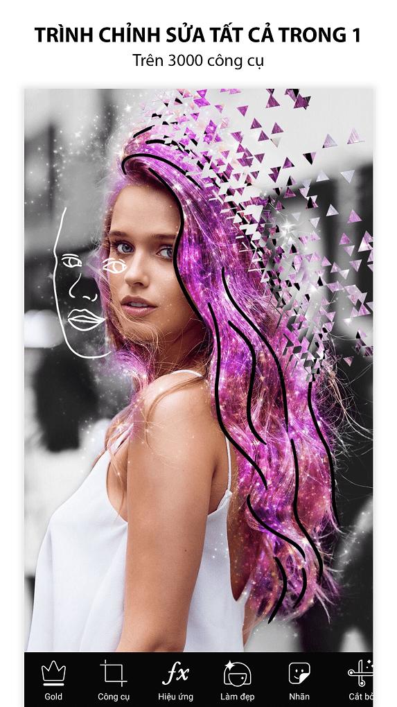 PicsArt cung cấp hàng tá công cụ chỉnh sửa ảnh giúp bạn tha hồ sáng tạo
