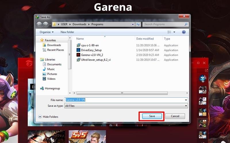 Tải Garena trên máy tính