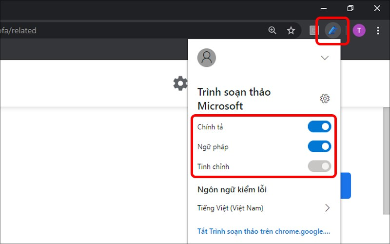 Tùy chỉnh Trình soạn thảo Microsoft