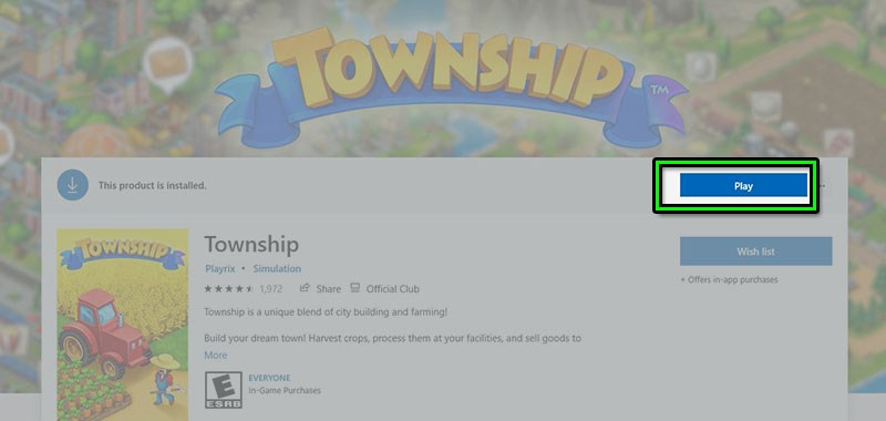 Hướng dẫn cài đặt Township trên máy tính