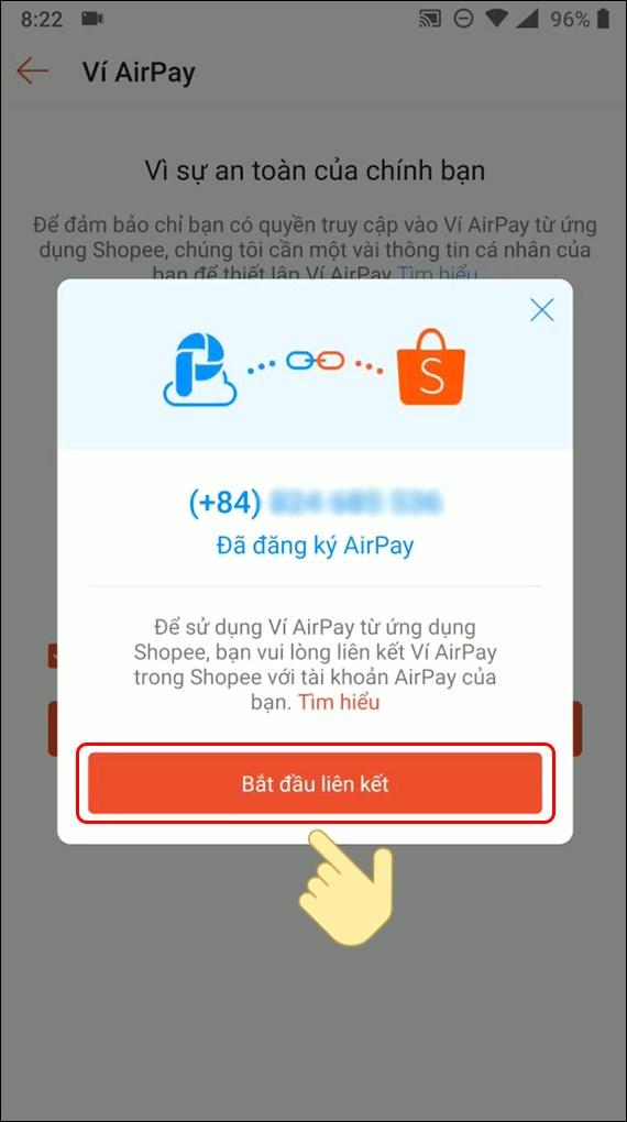 Bắt đầu liên kết AirPay với Shopee