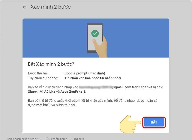 Cách kích hoạt bảo mật 2 bước cho tài khoản Google