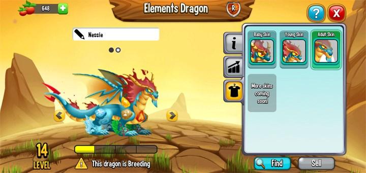Hình dạng trưởng thành của Elements Dragon (rồng nguyên tố) trông cực kỳ ngầu