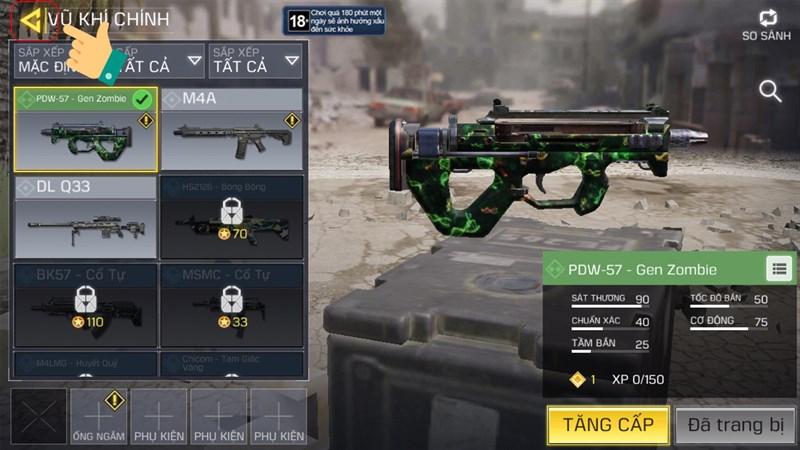 Cách đổi ngoại hình, trang bị nhân vật Call Of Duty Mobile