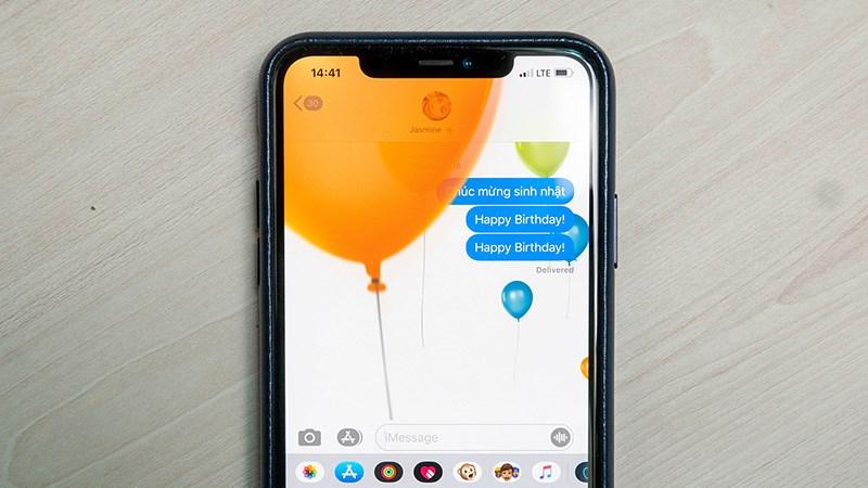 ính năng Message Effects, cho phép người dùng gửi tin nhắn kèm những hiệu ứng động
