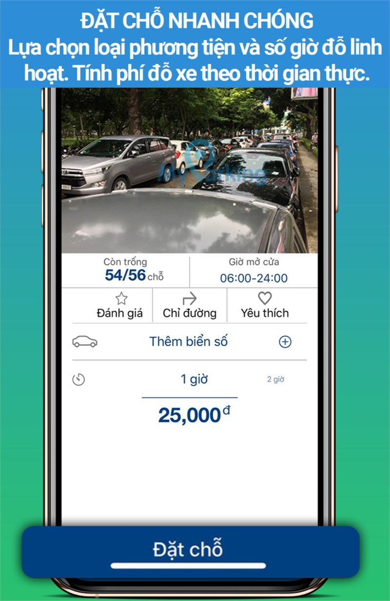Đặt xe nhanh chóng với MyParking Viettel Business Solutions Corporation