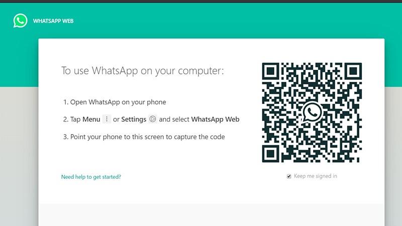 Giao diện đăng nhập WhatsApp Web