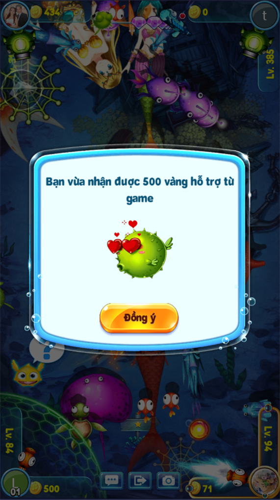 iCa Ban Ca ZingPlay hỗ trợ vàng cho người chơi