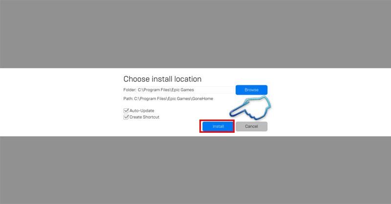 Nhấp vào install để bắt đầu cài đặt game
