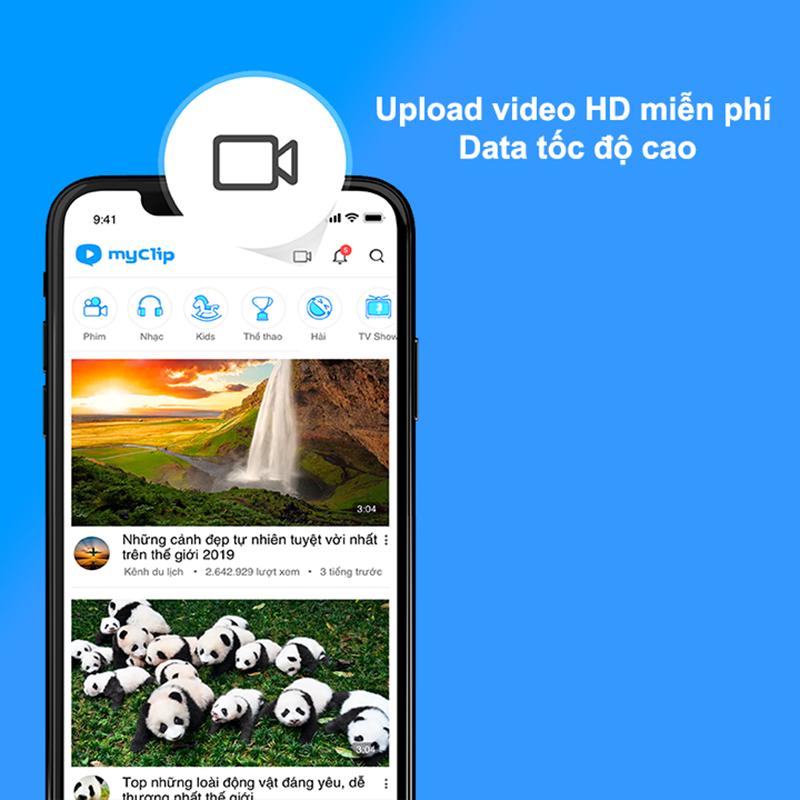 Đăng tải và chia sẻ video với bạn bè liên tục, không lo mất phí Data 3G/4G Viettel tốc độ cao