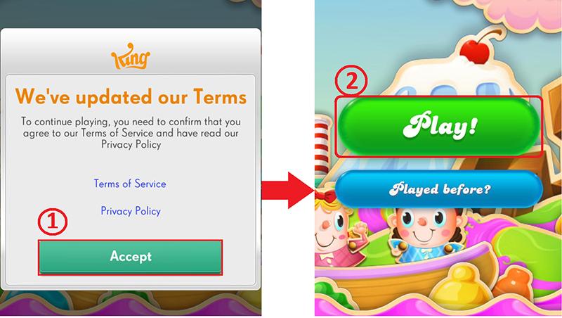 Nhấn chọn Accept và sau đó nhấn Play để chơi