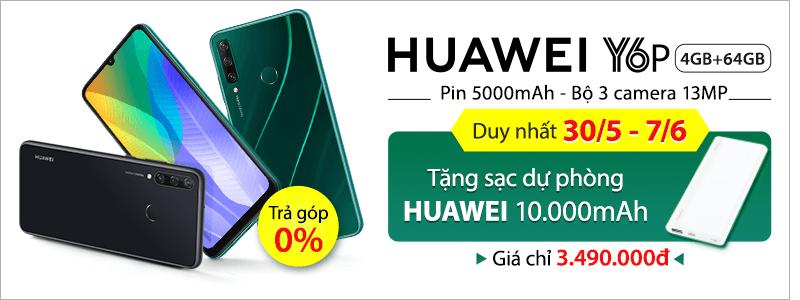 Sắm Huawei Y6P[break]Giá Chỉ 3.490.000đ