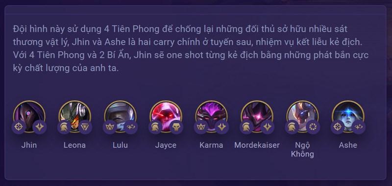 Sức mạnh đội hình Jhin Tiên Phong
