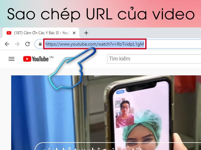 Sao chép URL của video