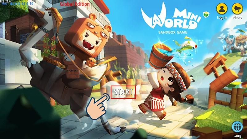 Đầu tiên bạn hãy khởi động game Mini World: Block Art.