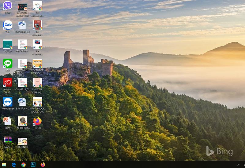 Hình nền mới có logo của Bing