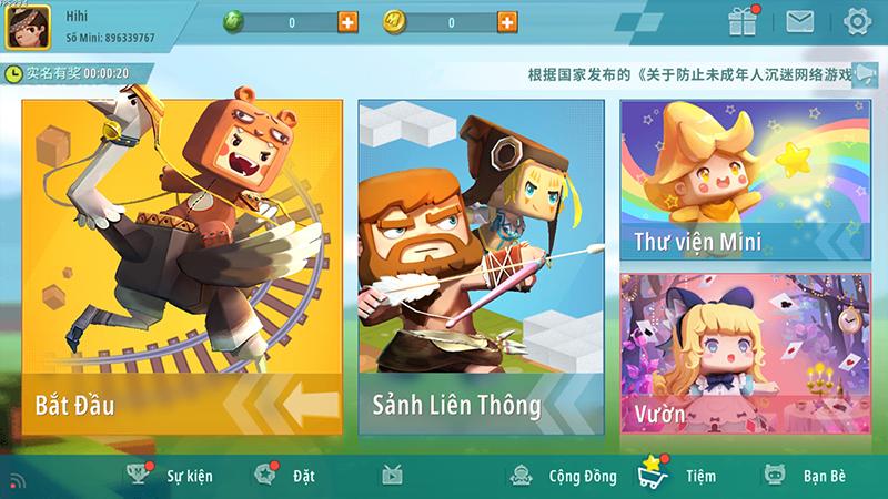 Thoát và vào lại game, ngôn ngữ sẽ chuyển sang tiếng Việt
