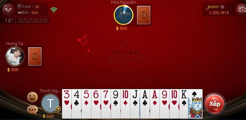 Mỗi người chơi được chia 13 lá bài