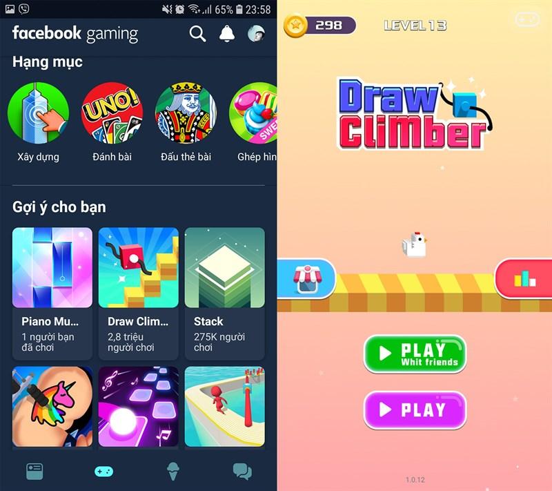 Sau khi thiết lập xong, các bạn đã có thể trải nghiệm Facebook Gaming
