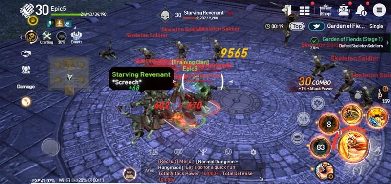 Nhân vật bị bao vây trong Daily Dungeon