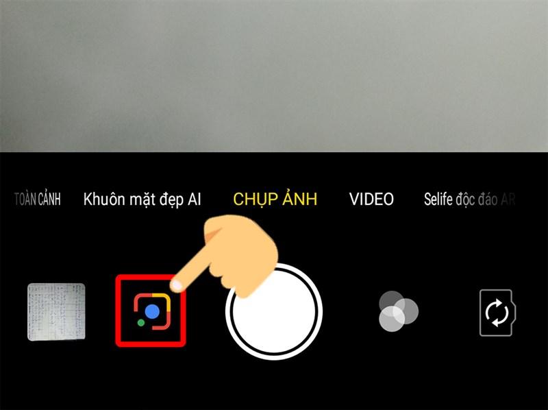 Google Lens được tích hợp vào Camera sau khi tải về