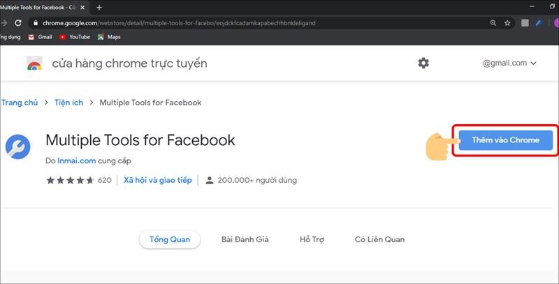 Tải và cài đặt Multiple Tools For Facebook