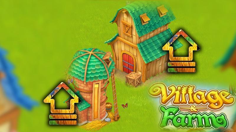 Hướng dẫn cách nâng cấp kho lên đến 4 con số trong game nông trại Village and Farm