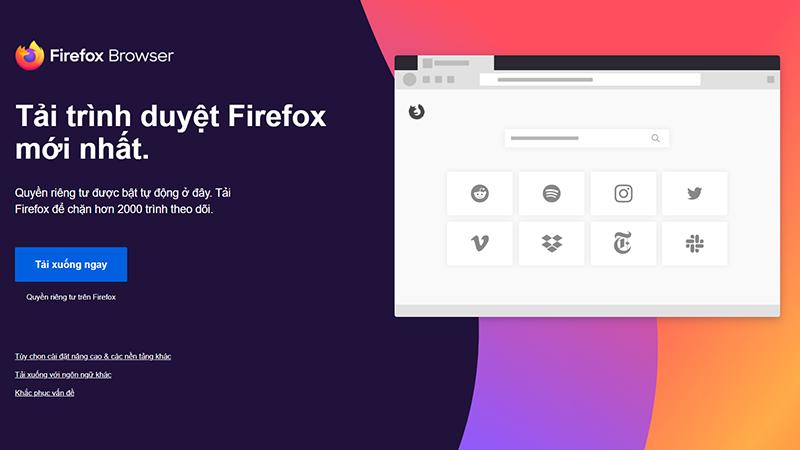 Cách tải trình duyệt Mozilla Firefox cho máy tính dễ dàng nhất
