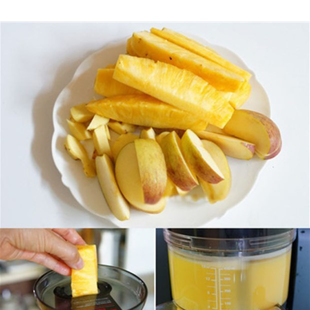 Bước 2 Ép lấy nước Nước ép dứa táo